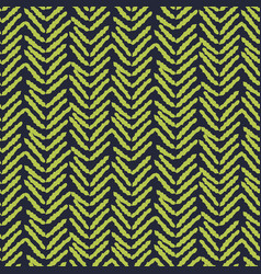 herringbone blue and green hand drawn simple vector image
