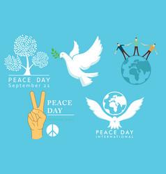 International day of peace symbols vector