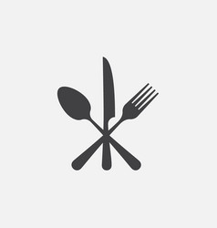 knife fork and spoon icon restaurant icon vector image
