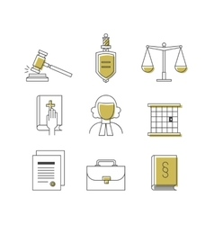 Law and justice icon set suitable for info vector image