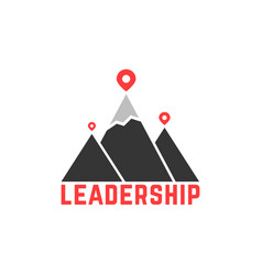 Leadership like top summit logo vector