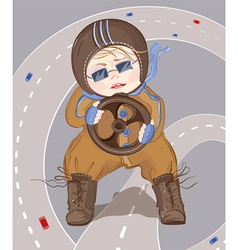little driver boy vector image