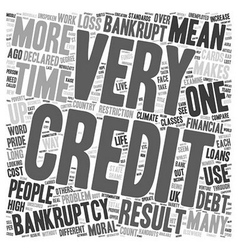 Loans And Credit Cards And Bankruptcy text vector