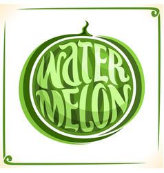 Logo for big watermelon vector