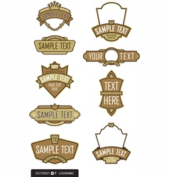Logo templates vector