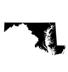 map of the US state Maryland vector image