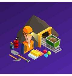 Mining Work Isometric Concept vector