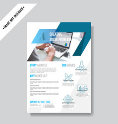 modern business flyer template vector image