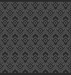 Monochrome tribal geometric pattern vector