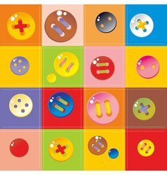 multicolored buttons vector image