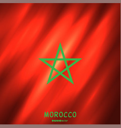 national morocco flag background vector image