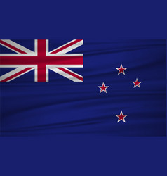 new zealand flag flag of new zealand blowig in vector image