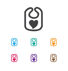 of infant symbol on bib icon vector image