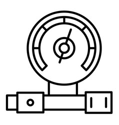 oil gauge icon outline style vector image