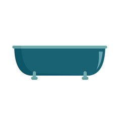 old bathtube icon flat style vector image