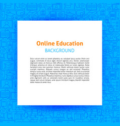 online education paper template vector image