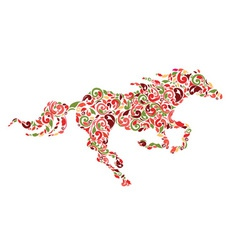 pattern horse vector image