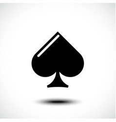 Playing card spade icon vector