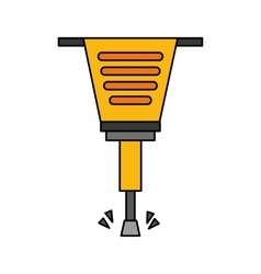 Pneumatic hammer tool isolated icon vector