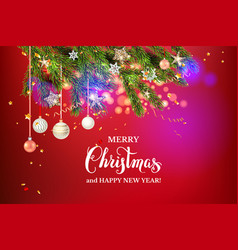 red christmas beautuful background vector image