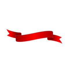 red shiny closeup ribbon isolated icon vector image