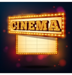 Retro cinema sign vector