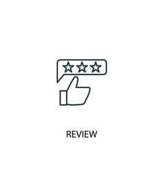 Review concept line icon simple element vector