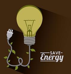 Save energy design vector