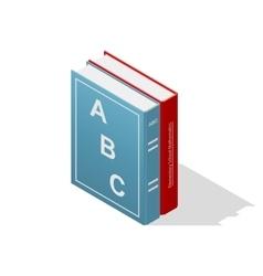 School books isometric icon vector