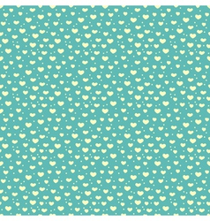 Seamless pattern of hearts and snow vector
