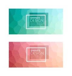 Set of polygonal colorful background banners vector