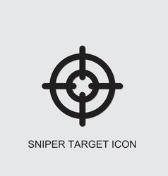 Sniper target icon vector
