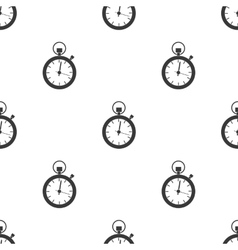 Stopwatch icon in black style isolated on white vector image