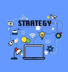 strategy graphic for business concept vector image