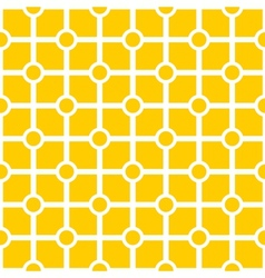 Tile yellow and white geometric pattern vector
