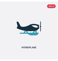 Two color hydroplane icon from transportation vector
