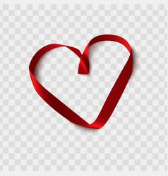 Valentine day design red silk heart shape vector