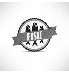 vintage retro fish labels vector image