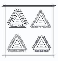 vintage triangular geometric frames vector image