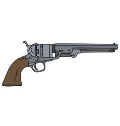 Vintage wild west handgun vector