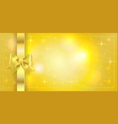 Volume template golden ticket gift certificate vector