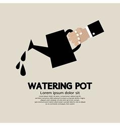 Watering pot vector