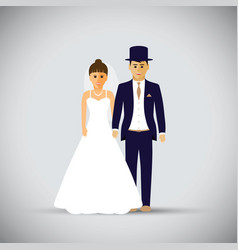 Wedding couple vector
