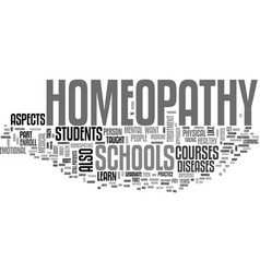 what you can learn in homeopathy schools text vector image