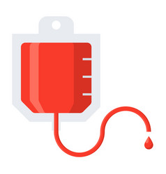 blood transfusion icon vector image vector image