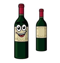 Cartoon wine bottle vector image vector image