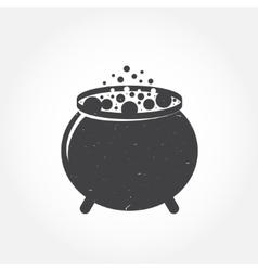 Halloween cauldron icon vector image