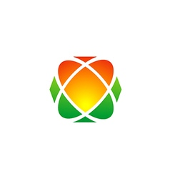 love geometry technology logo vector image
