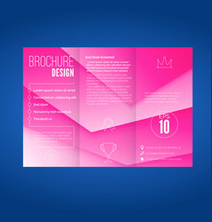 pink layered modern abstract geometric brochure vector image vector image