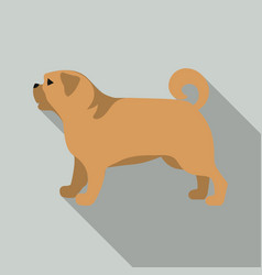 pug icon in flat style for web vector image